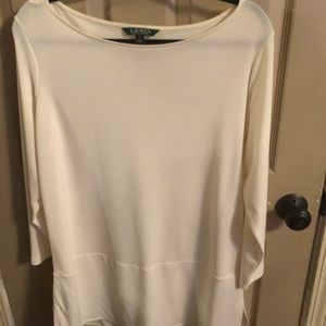 Lauren by Ralph Lauren Cream Tunic XL